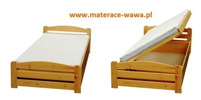łóżka Drewniane Sosnowe Jacek łóżko Z Pojemnikiem